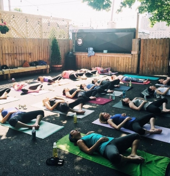 Sunday Funday Takes on a Whole New Meaning When There is Yoga & Champagne Involved